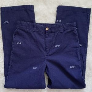 VINEYARD VINES blue corduroy whale pants